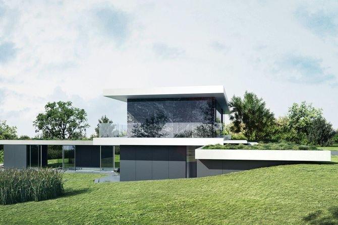 Nietypowy dom w formie pawilonu