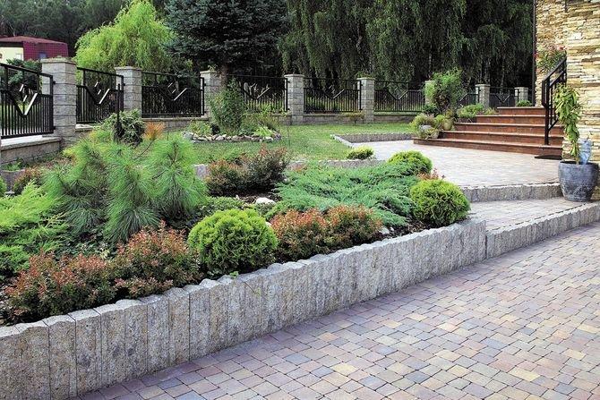 Mała architektura ogrodowa z elementów betonowych