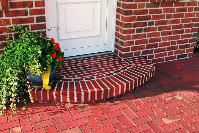 Szybki sposób na schody zewnętrze z klinkieru
