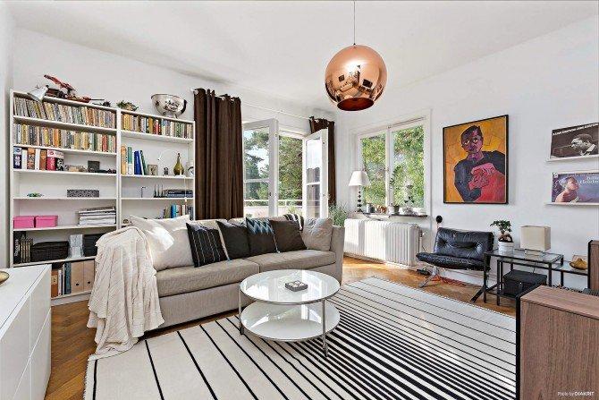 Jasne mieszkanie w stylu skandynawskim