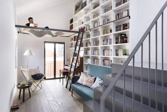 Mieszkanie jak biblioteka