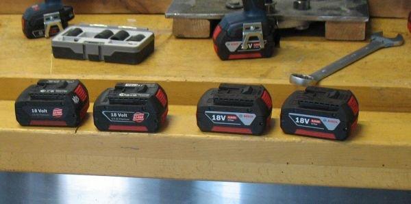 Akumulatory dołączone do klucza udarowego GDX 18V-EC