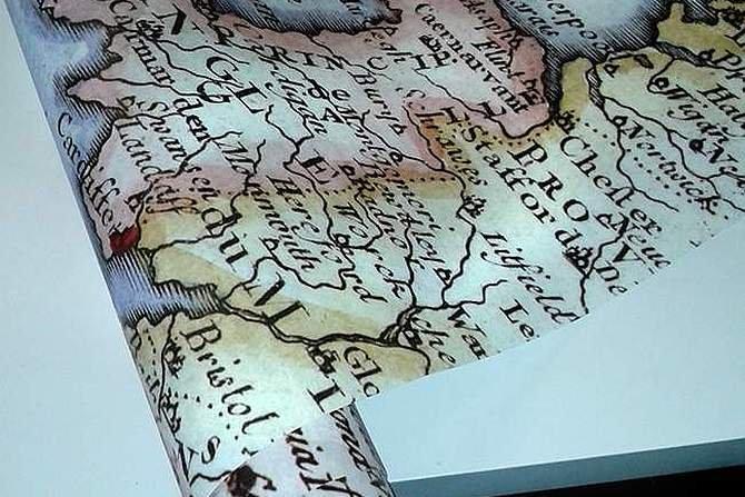 Mapa na fototapecie
