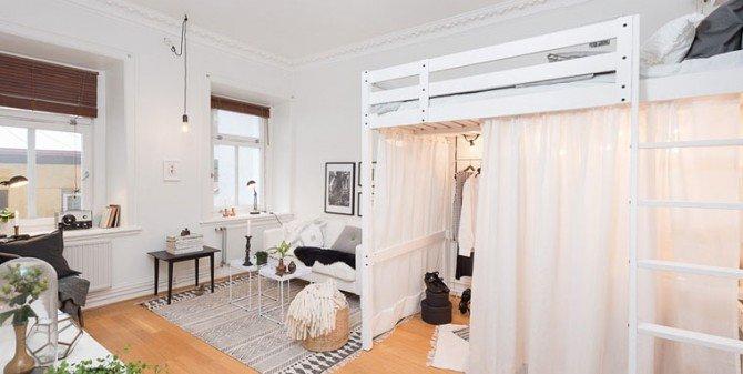 Małe, przytulne 36-metrowe mieszkanie