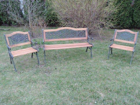 Renowacja ławeczek ogrodowych