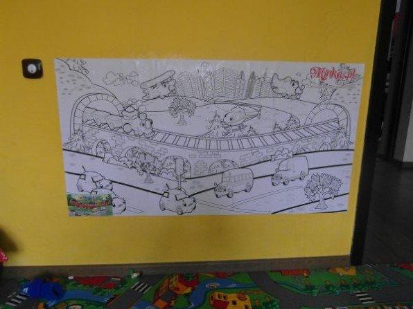 Dziecięce malowanie po ścianie