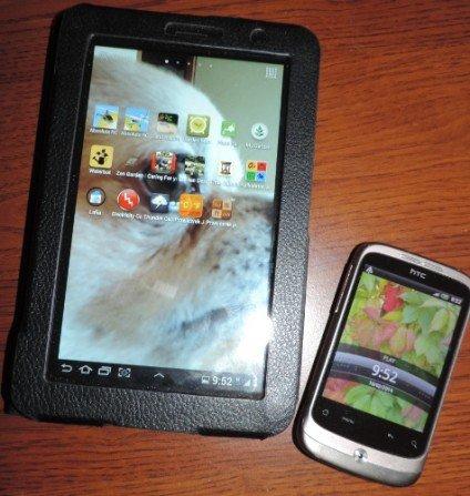 Tablet i smartfon w ogrodzie i w domu