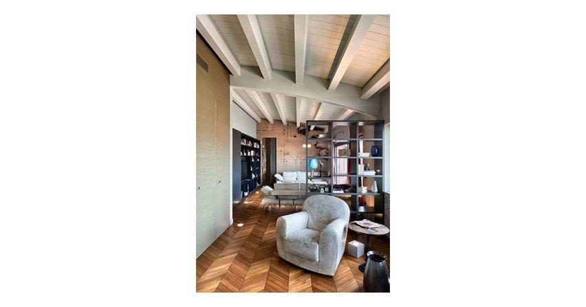 Drewniana podłoga, drewniany sufit