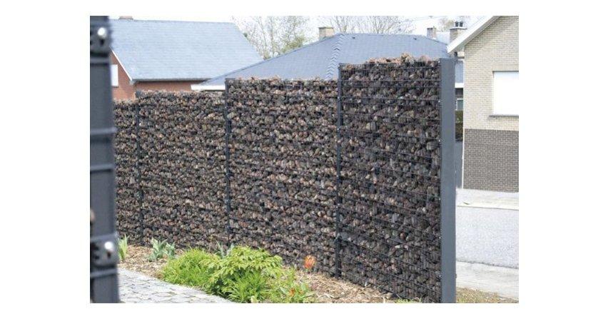 Murek gabionowy zamiast ogrodzenia betonowego