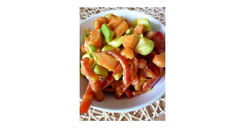 Sałatka z pieczoną marchewką