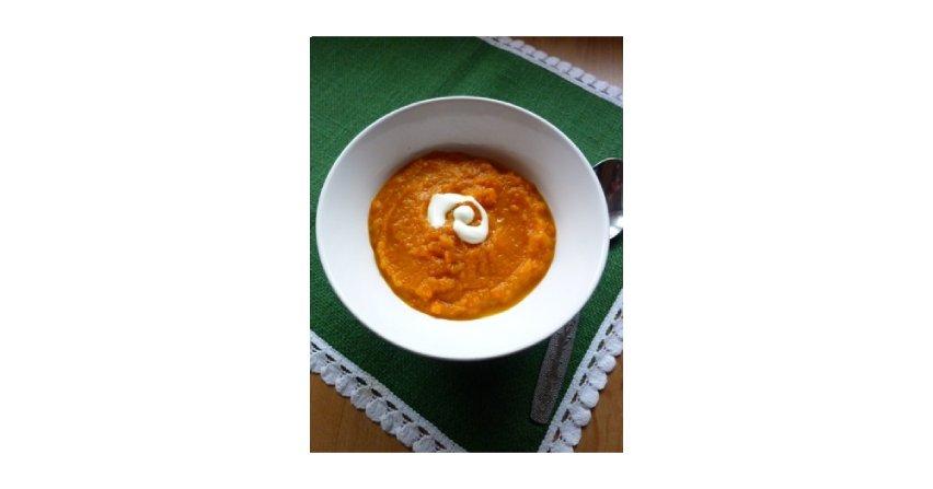 Krem z pieczonej marchewki z imbirem