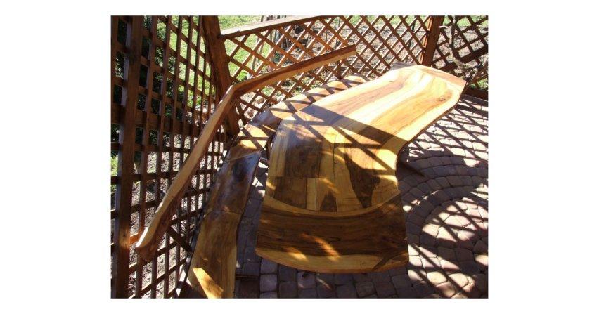 Ławka do altanki ogrodowej