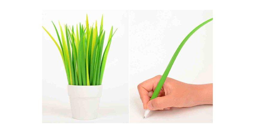 Długopisy jak liście trawy
