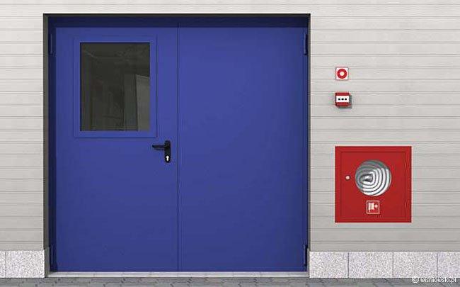 Drzwi przeciwpożarowe płaszczowe