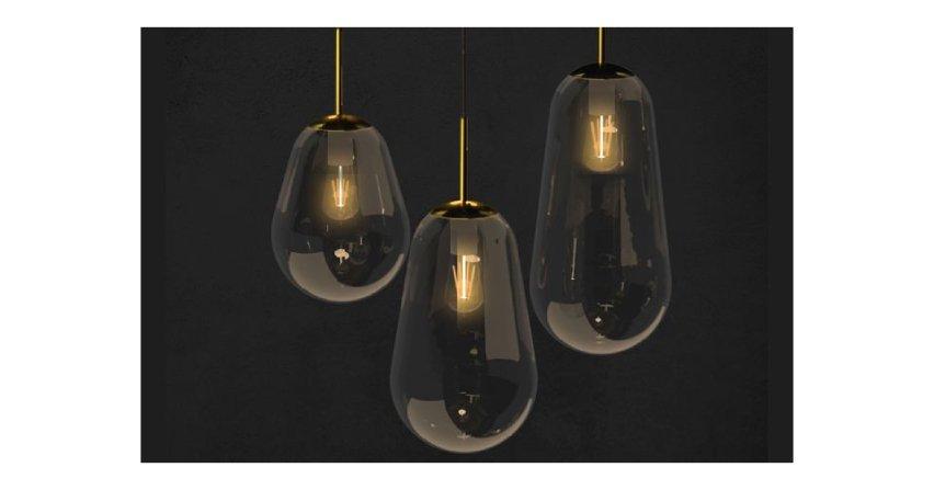 Eleganckie szklane lampy