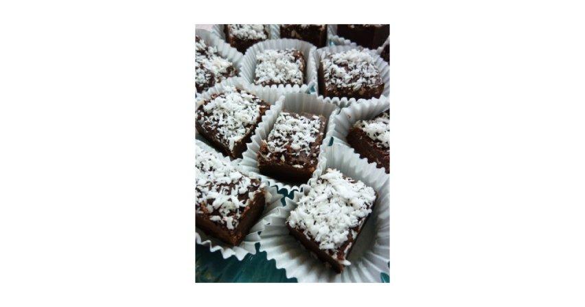 Krówki czekoladowe z kokosem