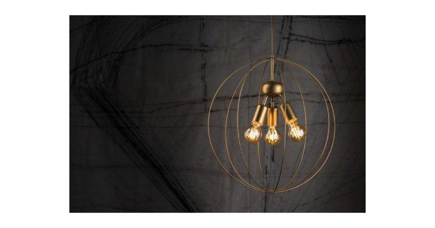 Lampa wisząca Bullet - złoto i oszczędność formy