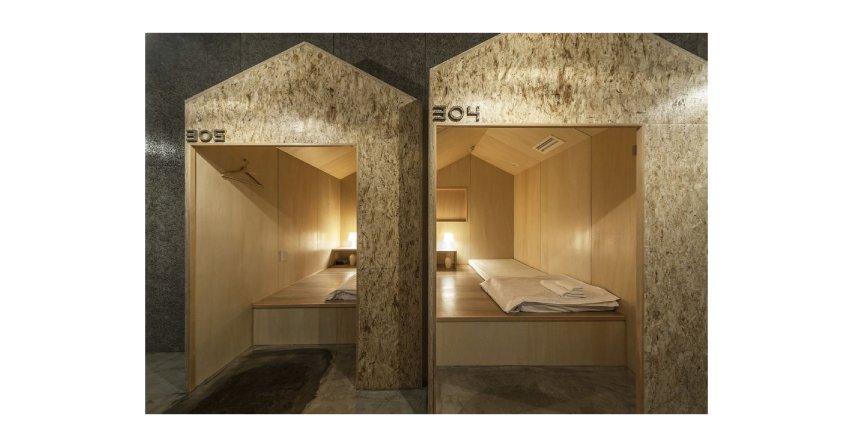 Nowoczesny hostel w Tokio