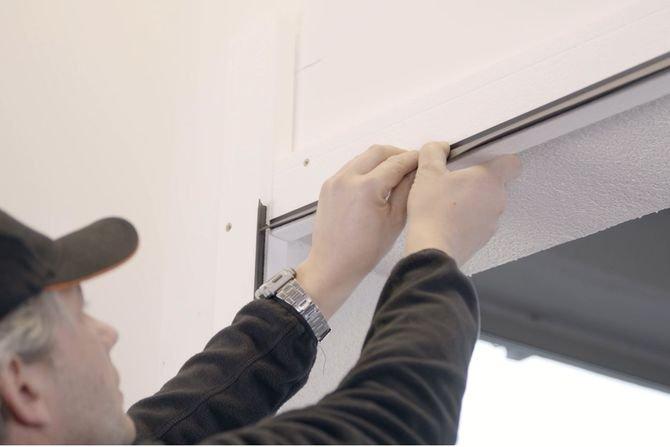 Ciepły montaż bramy garażowej
