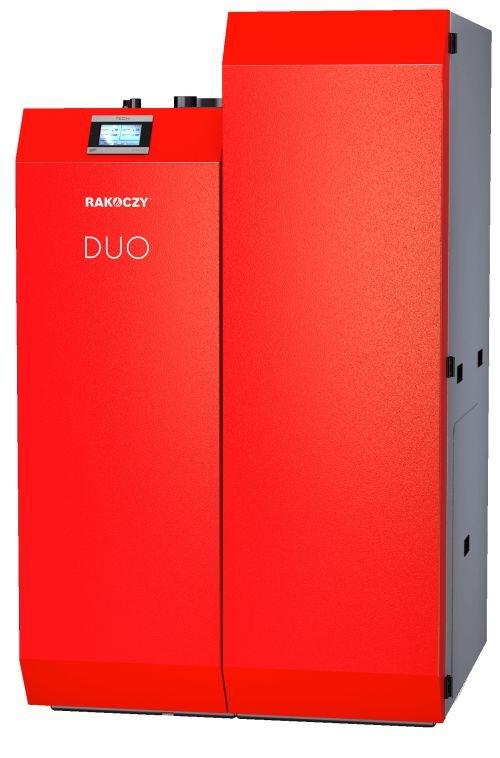 Dwupaliwowy kocioł automatyczny DUO 17 kW