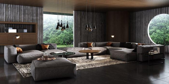 Geometria we wnętrzu – designerskie stoły Ring