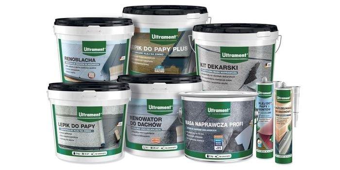 Produkty do naprawy i renowacji pokryć dachowych z papy
