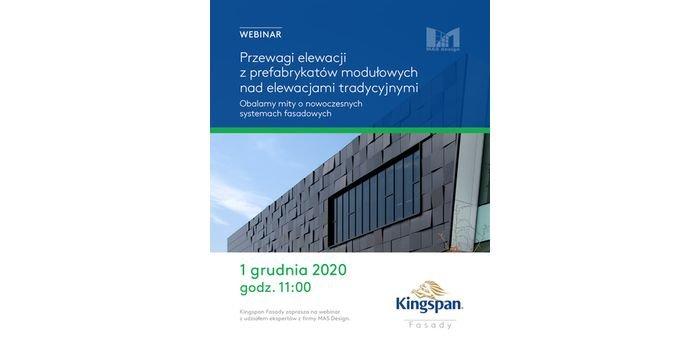 Kingspan zaprasza na webinarium o elewacjach modułowych