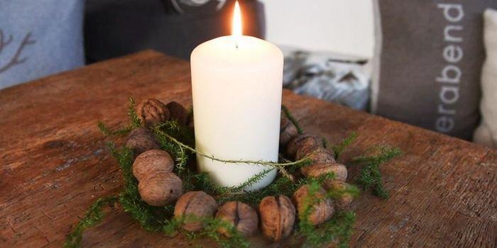 Świąteczny wieniec z orzechów włoskich – zrób to sam