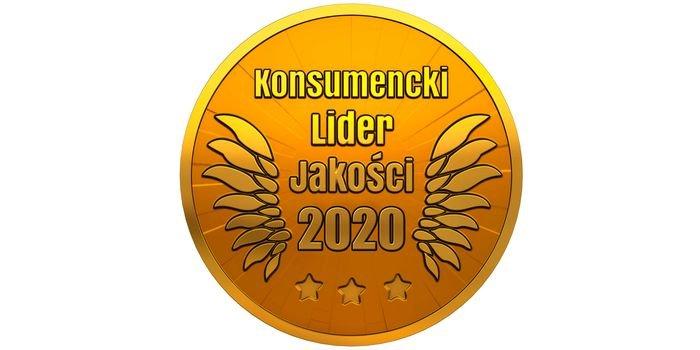 Złote godło Konsumencki Lider Jakości 2020 dla marki JONIEC®