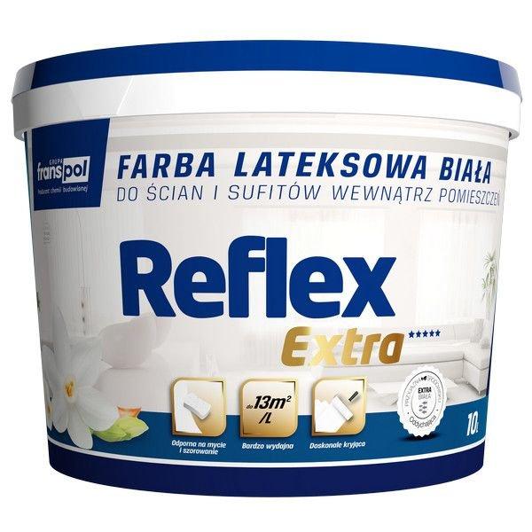 Farba lateksowa wewnętrzna biała Reflex Extra