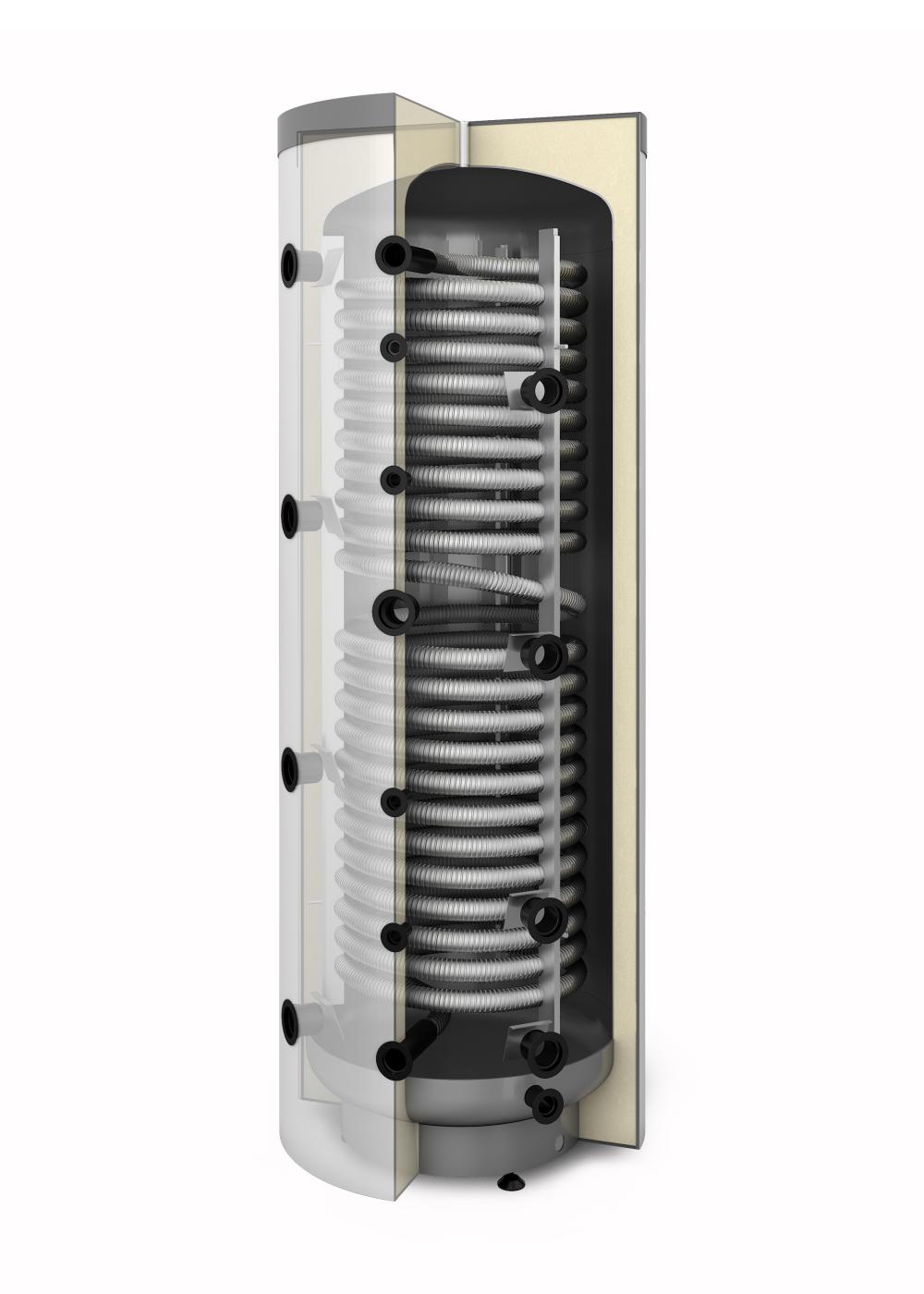 Akumulacyjny zbiornik warstwowy Multi Inox 600 z wężownicą do c.w.u.