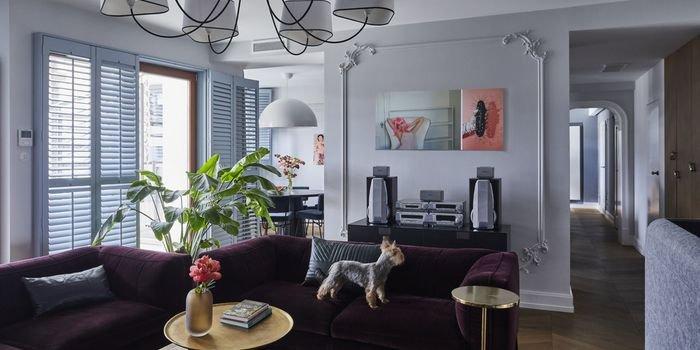 Elegancki apartament w tonacji burzowego błękitu