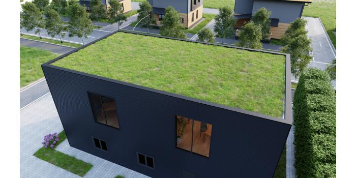 Dekoracyjna płyta warstwowa – łupek do aplikacji na dach stromy i elewację
