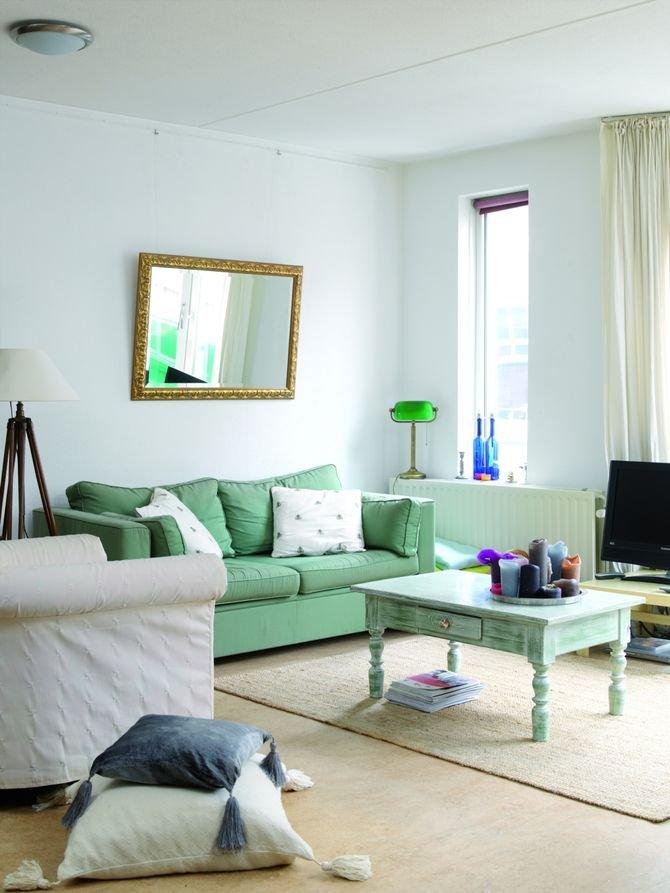 Farbami matowymi maluje się większe i lepiej oświetlone pomieszczenia