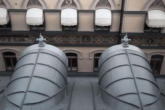Dach ułożony na rąbek kątowy