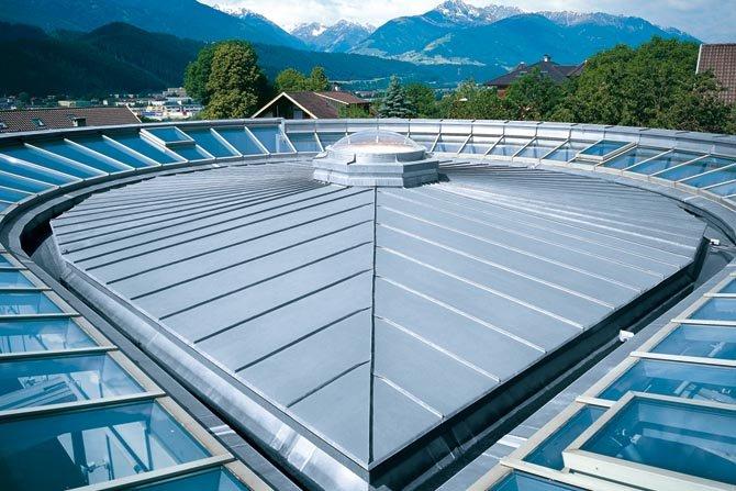Dach ułożony na rąbek podwójny