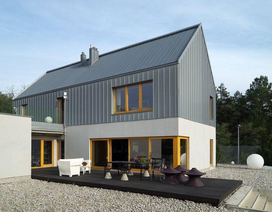 Dach ułożony na listwę - zbliżenie