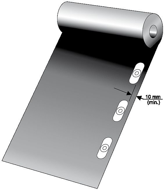 Sposób umieszczenia łączników na membranie; rys. DAFA