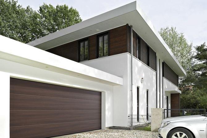 Duragrain - nowe wzory bram garażowych Fot. Hörmann