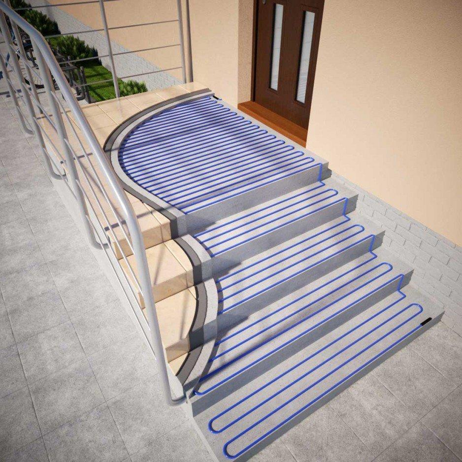 Systemy przeciwoblodzeniowe Elektra - schody
