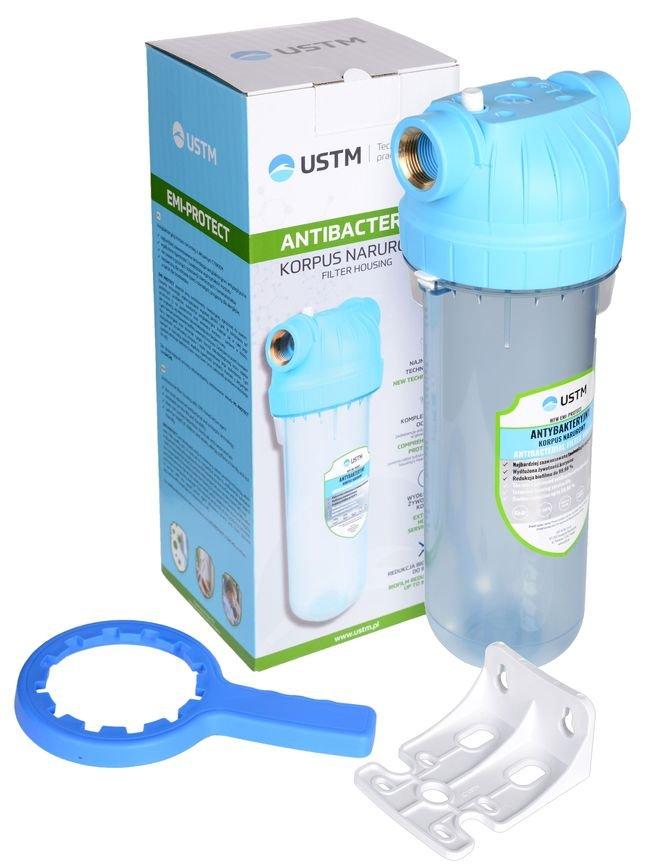 Antybakteryjny korpus narurowy EMI Protect z aktywnym cynkiem. Zabezpiecza przed rozwojem flory bakteryjnej oraz wydłuża żywotność i zwiększa wytrzymałość korpusu.