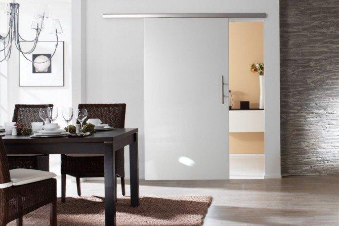 Drzwi przesuwne ze szkła - Levolan Fot. Glass House