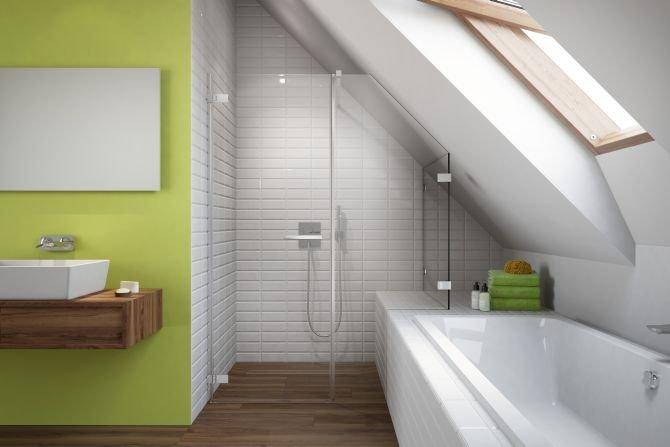 Jak urządzić łazienkę na poddaszu? Fot. Radaway