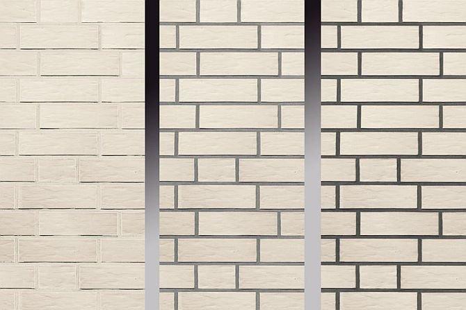 W zależności od tego, jaką wybierzemy fugę, ta sama cegła wygląda w murze zupełnie inaczej. Fot. Röben