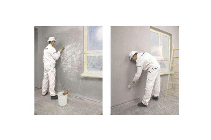 Do usunięcia starych powłok farb można użyć szpachelki lub szczotki drucianej. Rysy należy poszerzyć, aby później dokładnie wypełnić szczeliny zaprawą