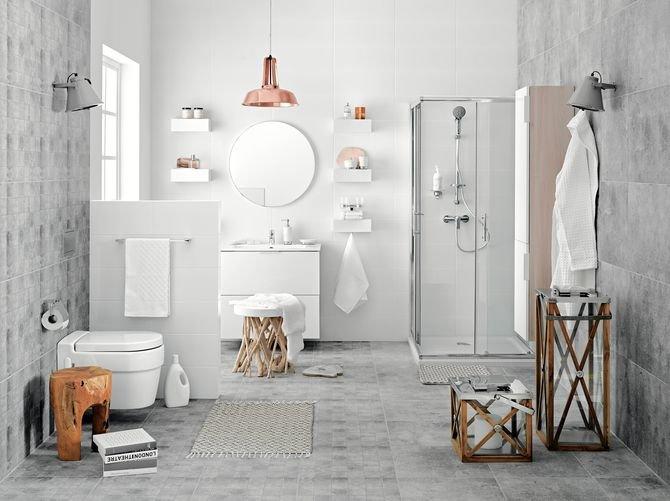 Są sprawdzone sposoby na oszczędzanie wody w łazience (na zdjęciu natrysk Dopio, bateria natryskowa Dijon)
