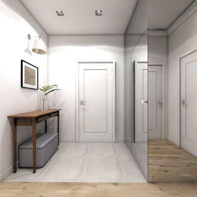 W szafie wnękowej z lustrzanymi frontami i bokiem można się obejrzeć od stóp do głowy.