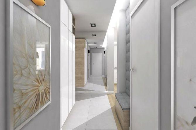 W przedpokoju zaplanowano pojemną szafę.Fot. MGN Pracowania Projektowa