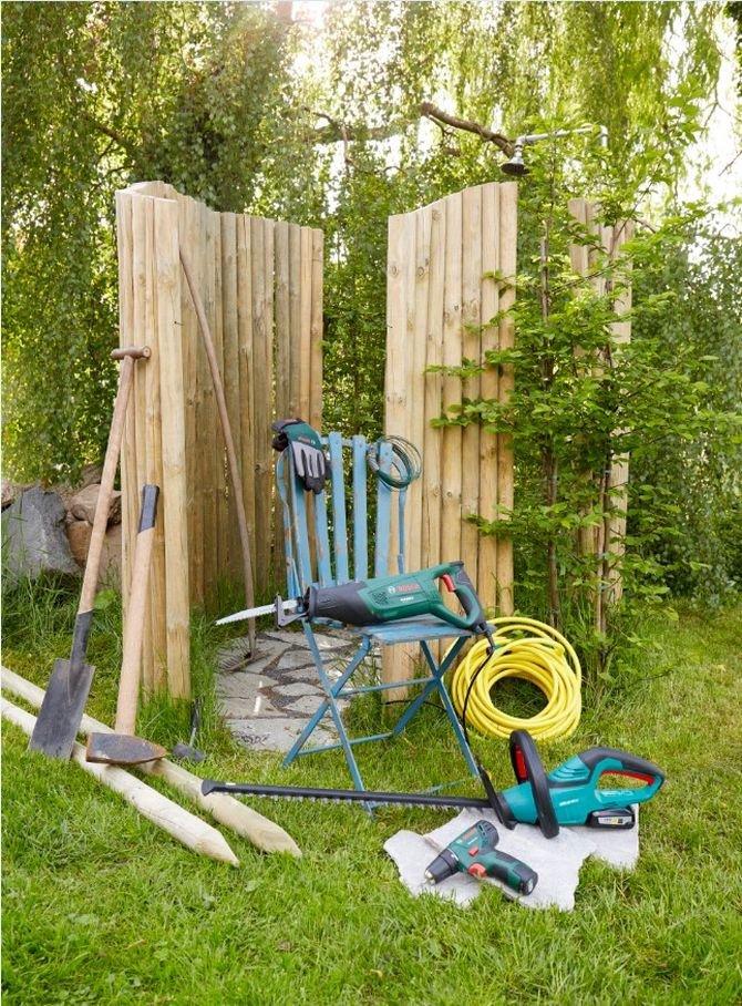 Prysznic w ogrodzie to idealny sposób na schłodzenie się podczas gorących letnich dni