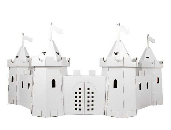 zamek z tektury